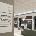 Un settore del Compass Lounge con al centro postazioni computer per l'utilizzo della Compass Card. (© National Maritime Museum, Greenwich)